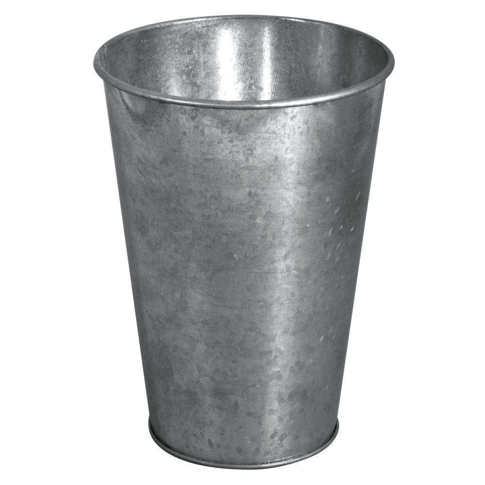 Zink-Dekovase, 7,5-11,5cm ø, 15,8cm