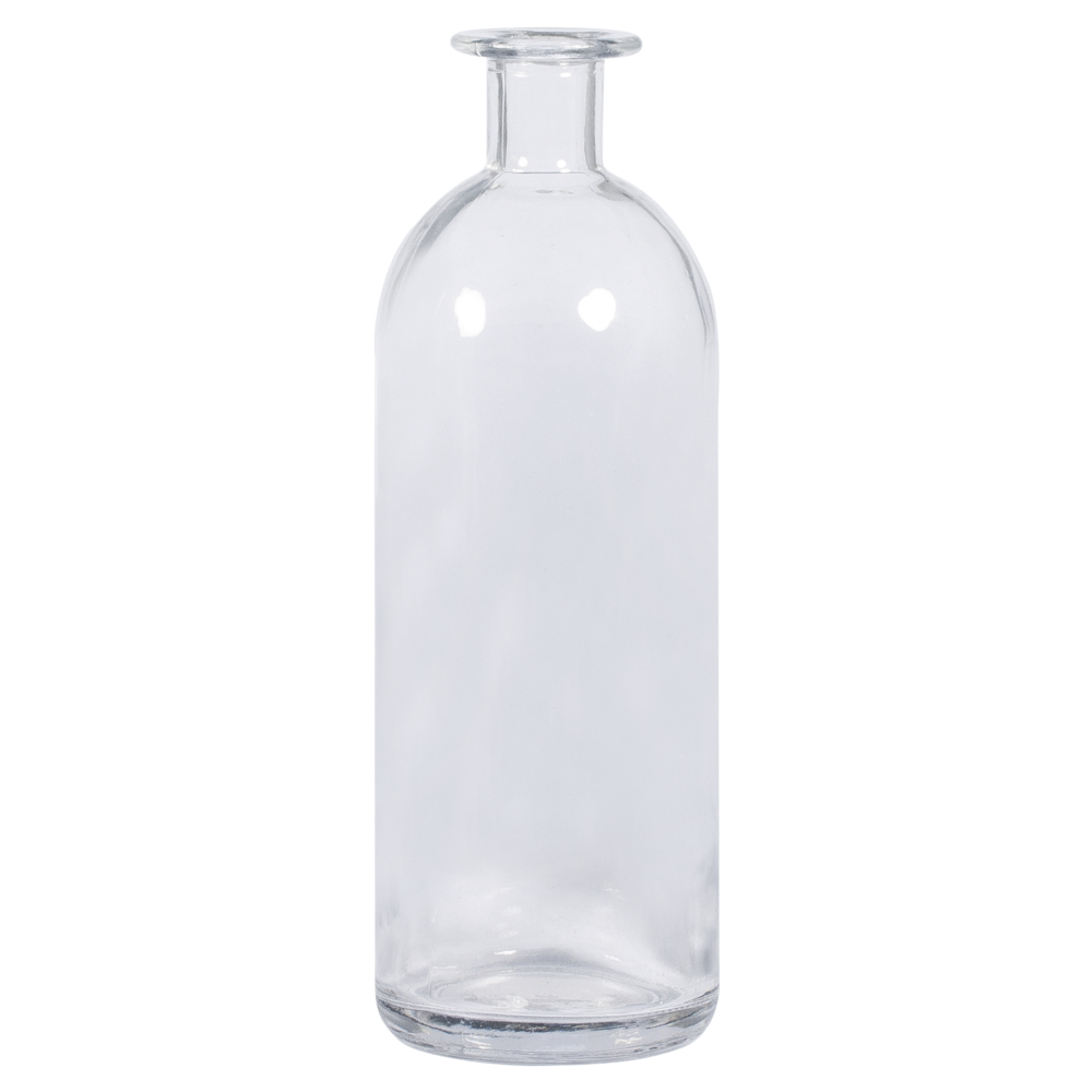 Glasflasche, 7cm ø, 20,5cm, Öffnung ø 1,8cm, 475ml