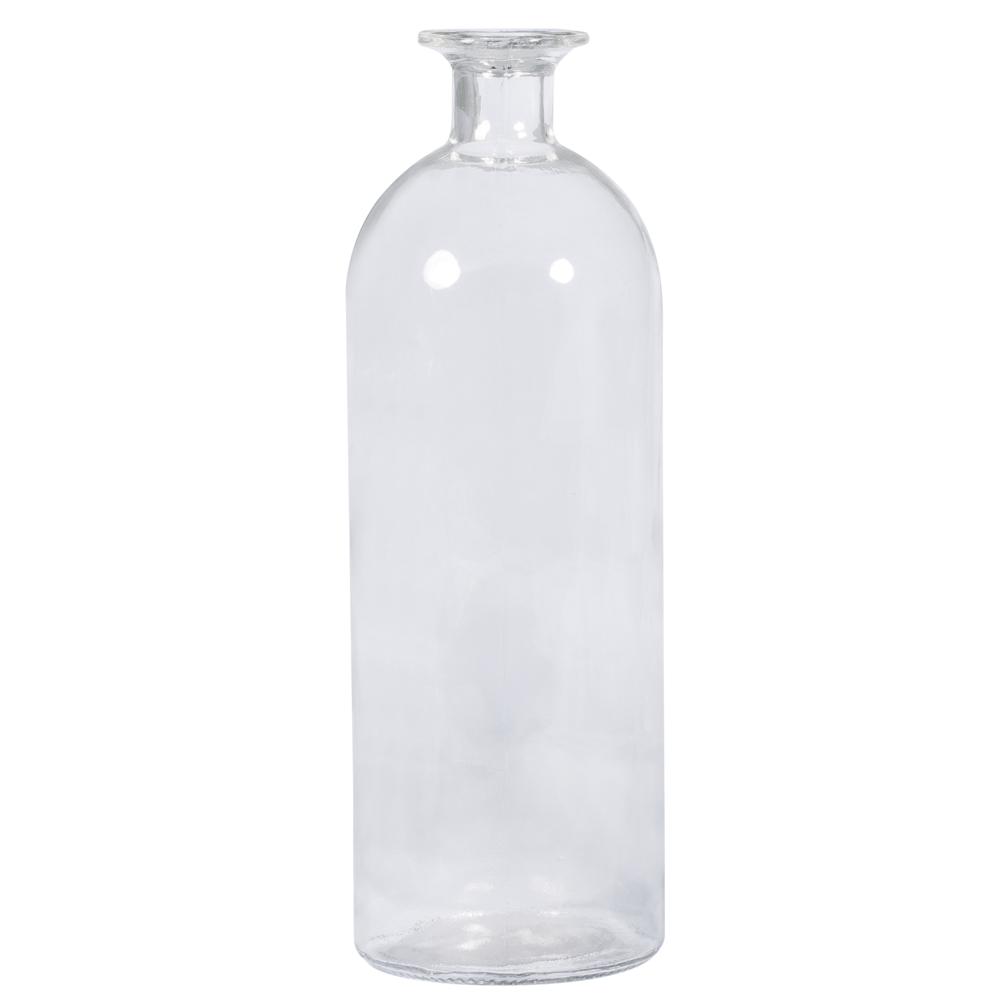 Glasflasche, 8,7cm ø, 26cm, Öffnung ø 2cm, 1.100ml