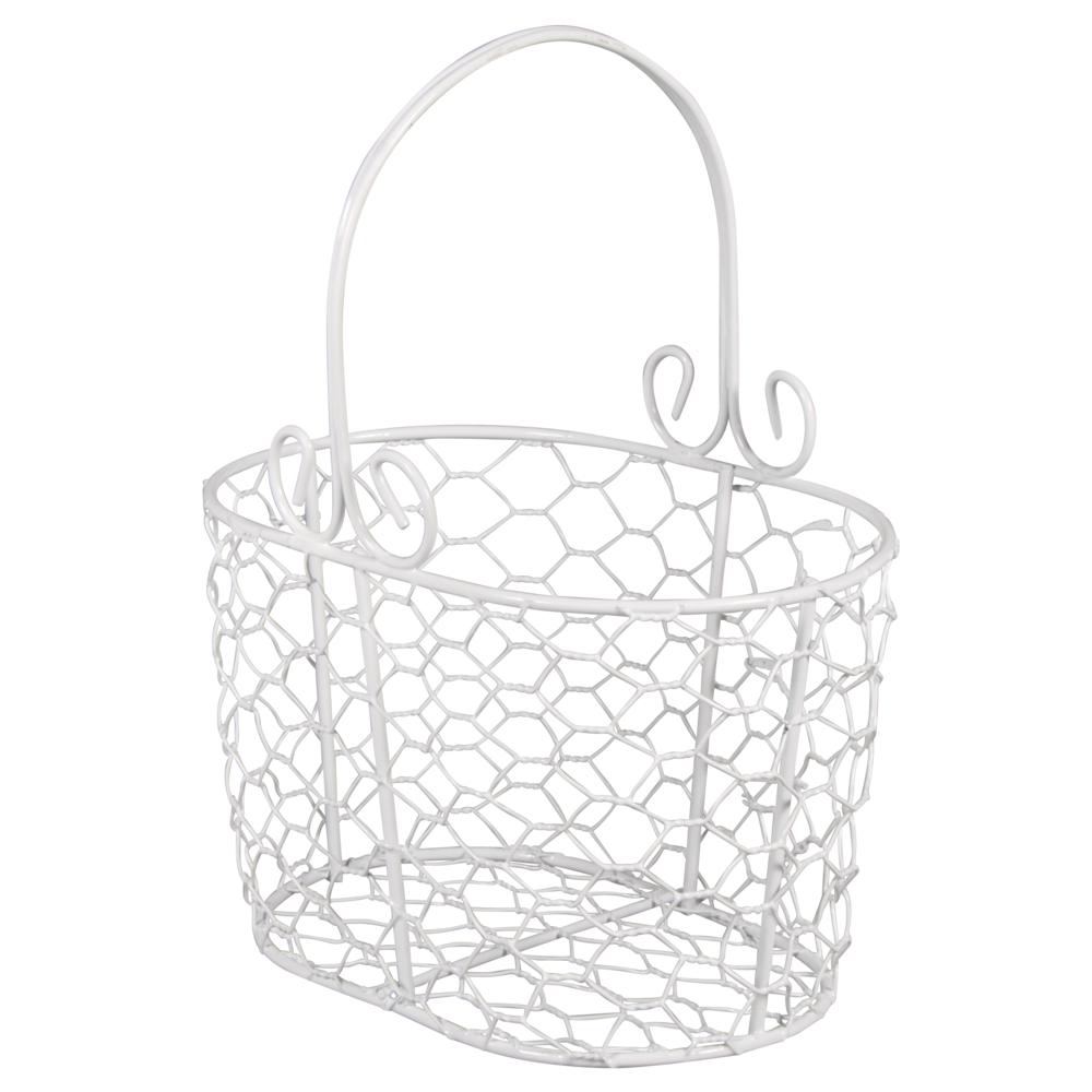 Deko-Metall-Korb, 16x11x20cm, weiß