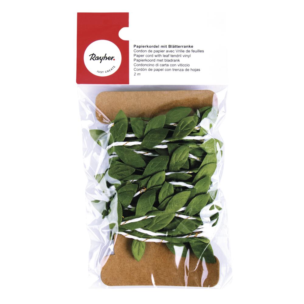 Papierkordel mit Blätterranke, SB-Btl 2m