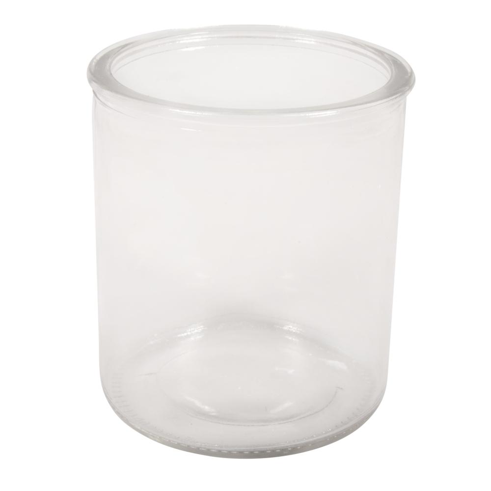 Glas Gefäß, 9,3cm ø, 10,5cm, 490ml