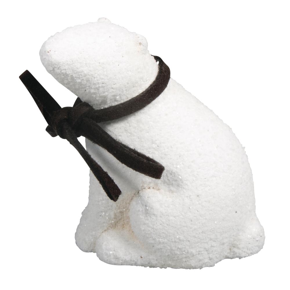 Keramik Eisbär, 5x3,5x6,5cm, weiß