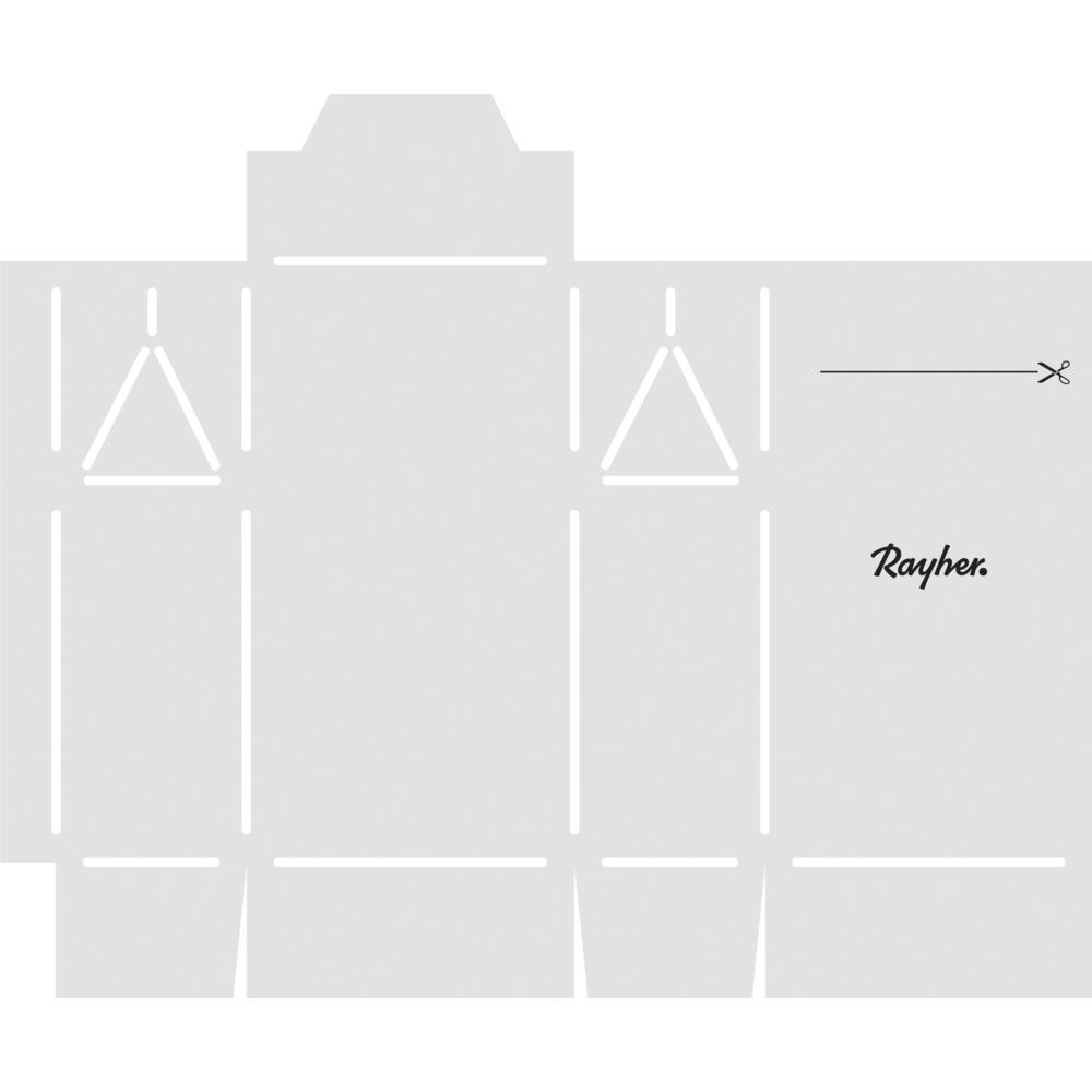Papierschablone Geschenkschachtel Midi, fertige Box 7x4x12,5cm, SB-Btl 1Stück