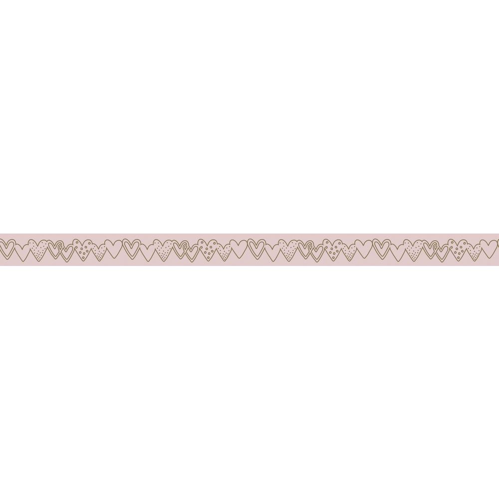 Washi Tape Herzgirlande m. Foliendruck, 15mm, RL 10m