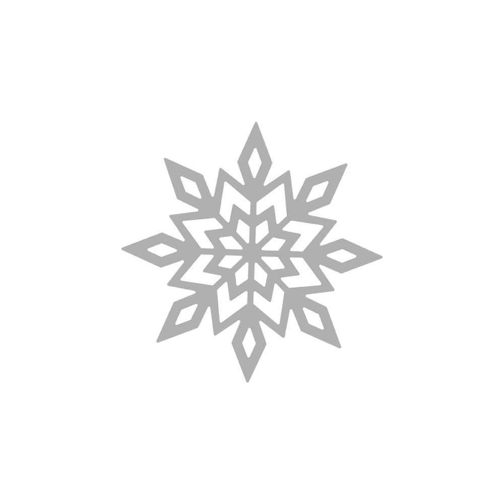 Stanzschablone Schneeflocke, 7cm ø, SB-Btl 1Stück
