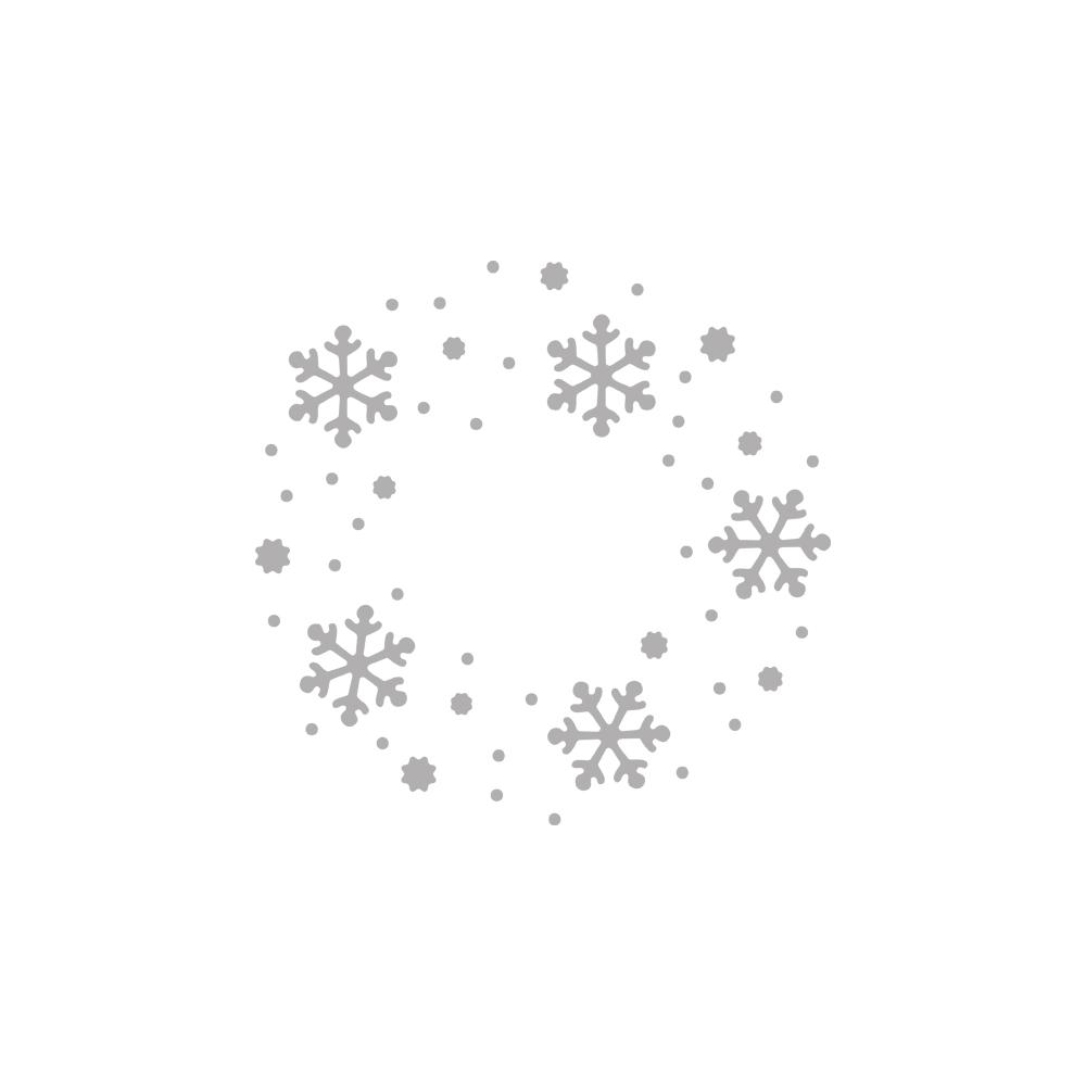 Stanzschablone Schneeflockenkranz ø7,5cm, Negativ, SB-Btl 1Stück