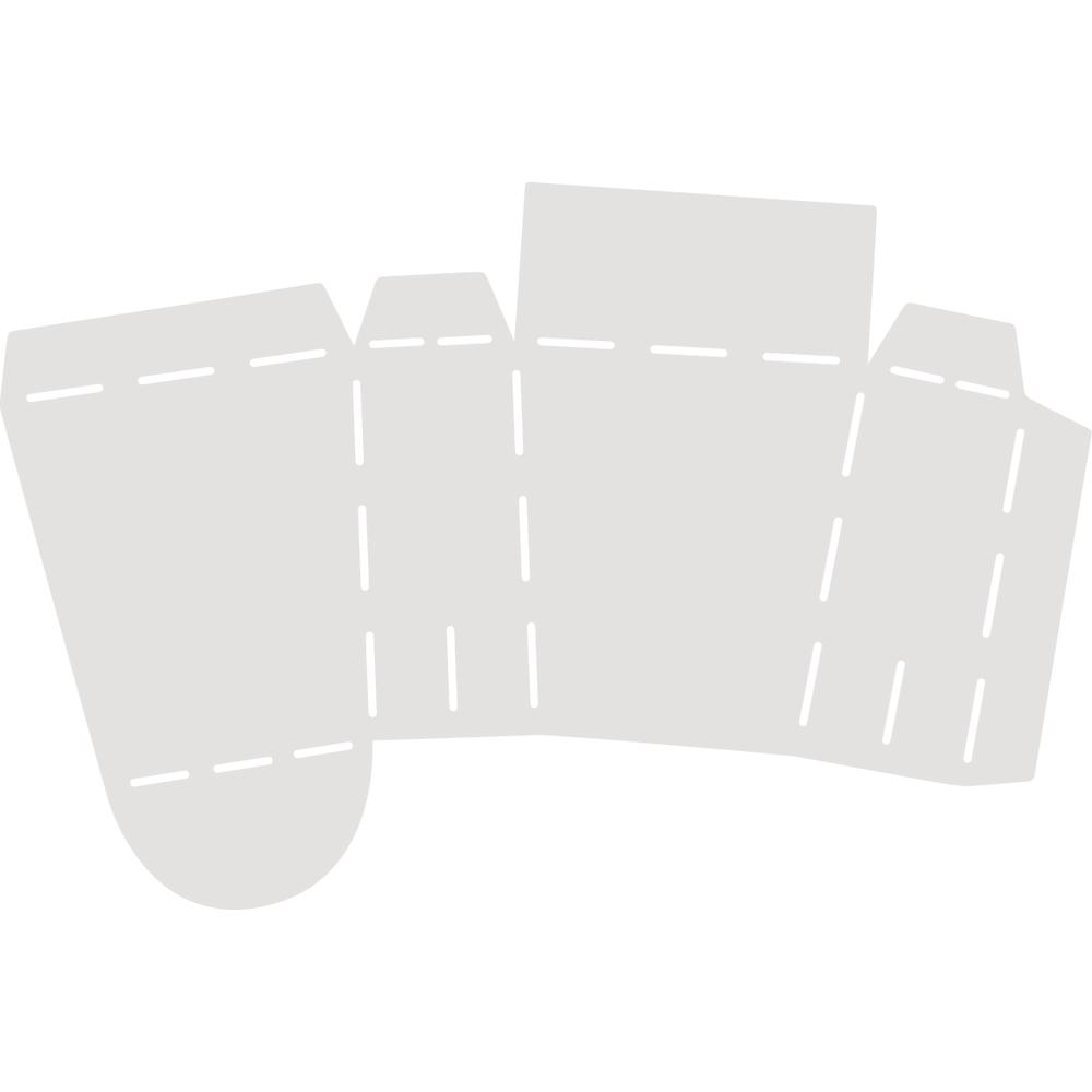 Schablone Täschchen, 23,5x17,5cm SB-Btl 1 Stück