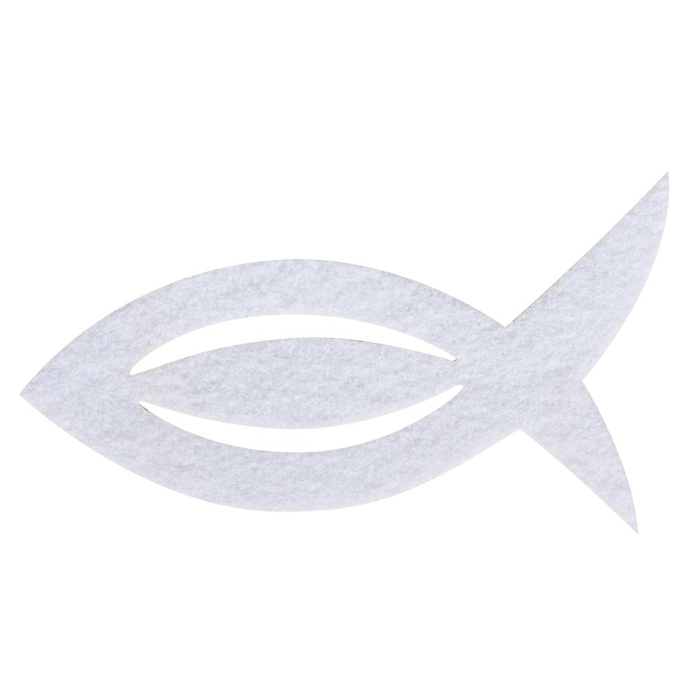 Filz Manschette für Servietten Fisch, 13,5x7,5x0,2cm, SB-Btl 6Stück