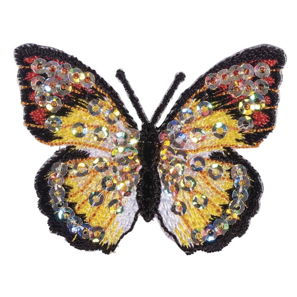 Patch Butterfly, 5x4cm, zum Aufbügeln, SB-Btl. 1Stück