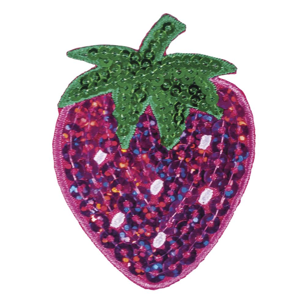 Patch Strawberry, 4,7x6,3cm, zum Aufbügeln, SB-Btl. 1Stück