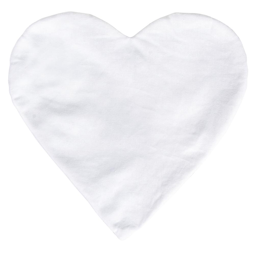 Kissenbezug Herz, 30cm ø, 190g/m², zum Zunähen, SB-Btl 1Stück, naturweiß