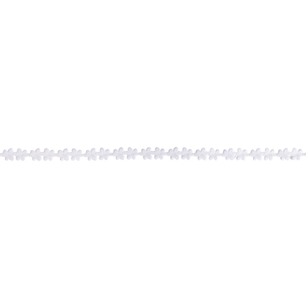 Dekoband Blumengirlande, 10mm, Rolle 10m