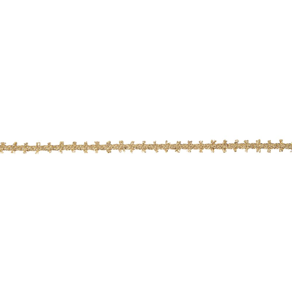 Dekokordel Picot, 6mm, Rolle 15m, gold