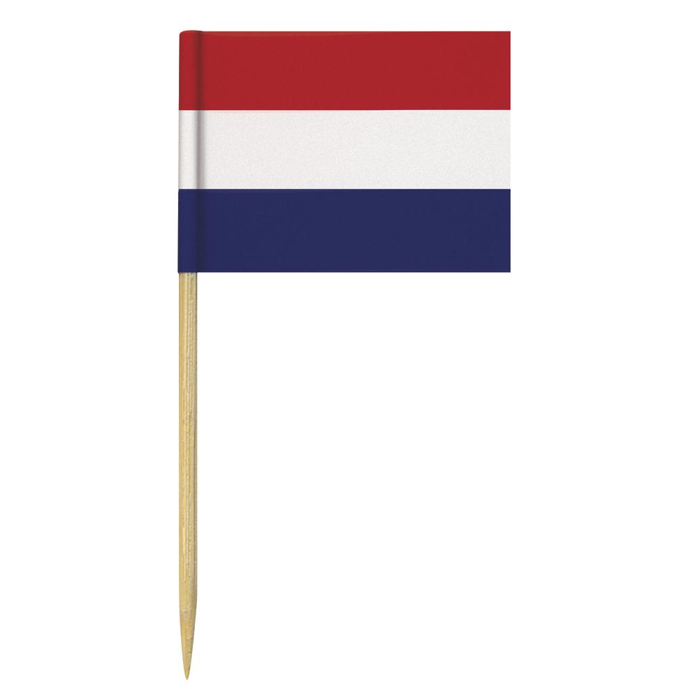 Flaggenpicker-Niederlande, 6,5 cm, SB-Btl. 10 Stück