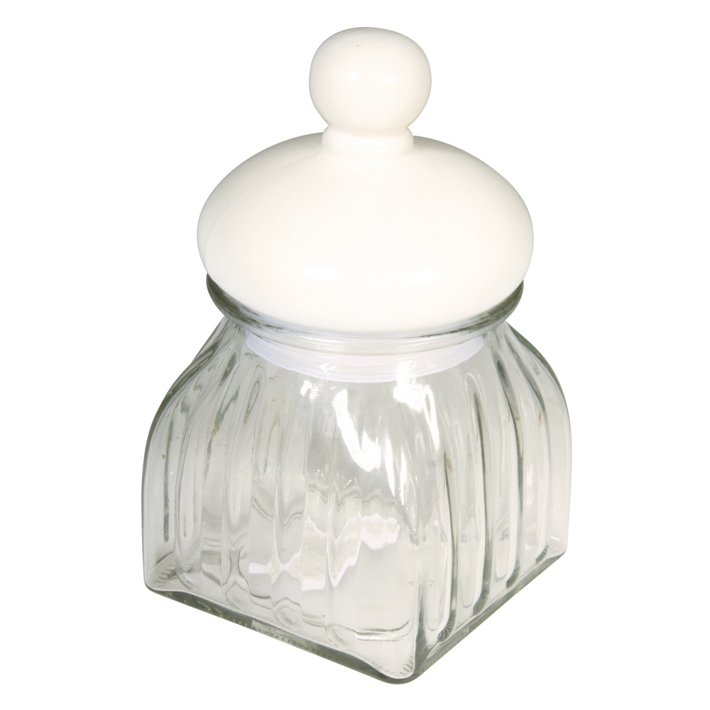 Vorratsglas mit Keramikdeckel, 10,3x10,3x18cm