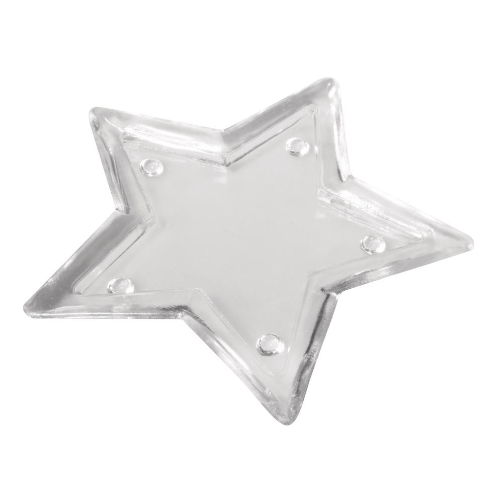 Glas Platte Stern, 19cm ø, 1,7cm