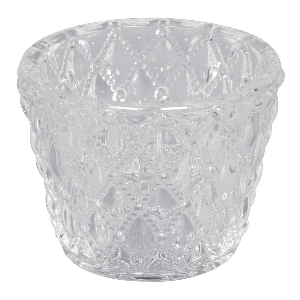 Glas Gefäß für Teelicht, Höhe:6cm,øunten:5cm, øoben:7,5cm