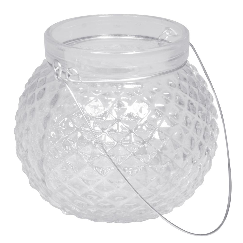 Glas Gefäß mit Henkel, Höhe:9cm,øoben:6,5cm(Öffnung)