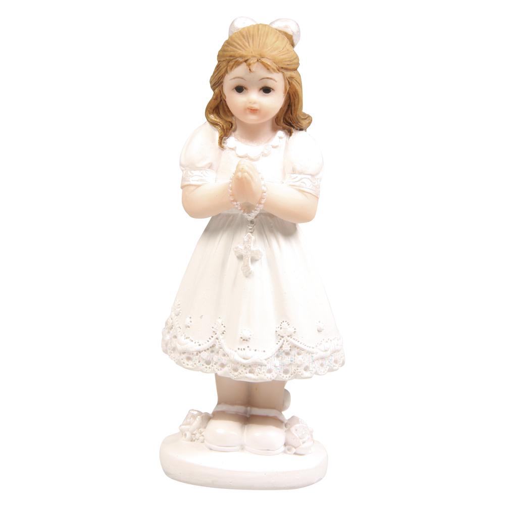 Polyresin Kommunion Mädchen, 8,5cm, stehend