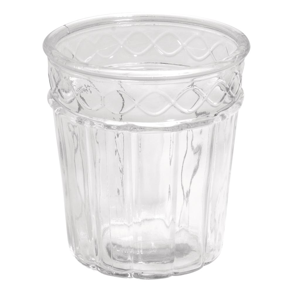 Glas Vase , 13,5cm ø, 15cm, Vintage