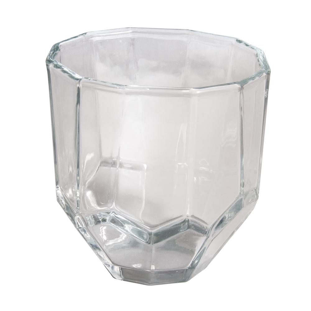 Glasgefäß, facettiert, 9x9x9cm, 260ml