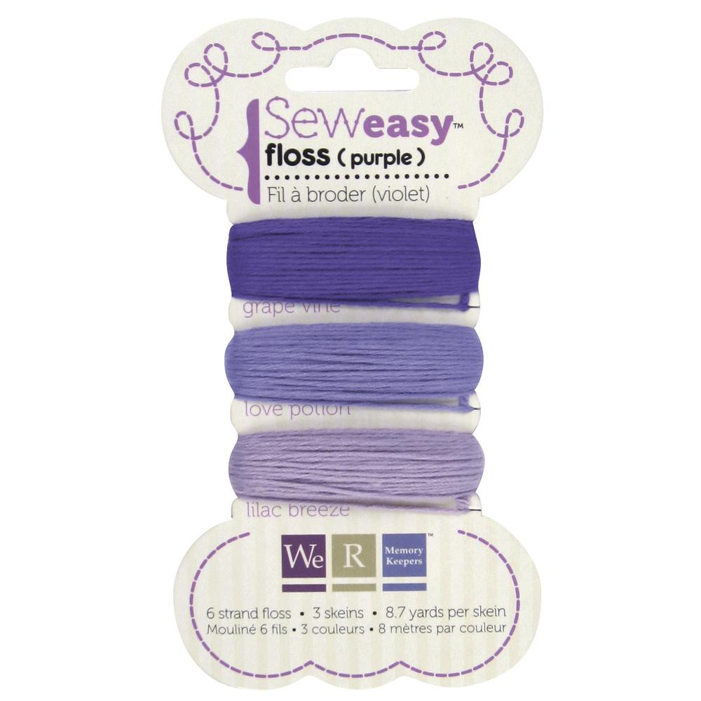 SewEasy Floss, Stickgarn, SB-Karte 3 Farben á 8m, Violetttöne