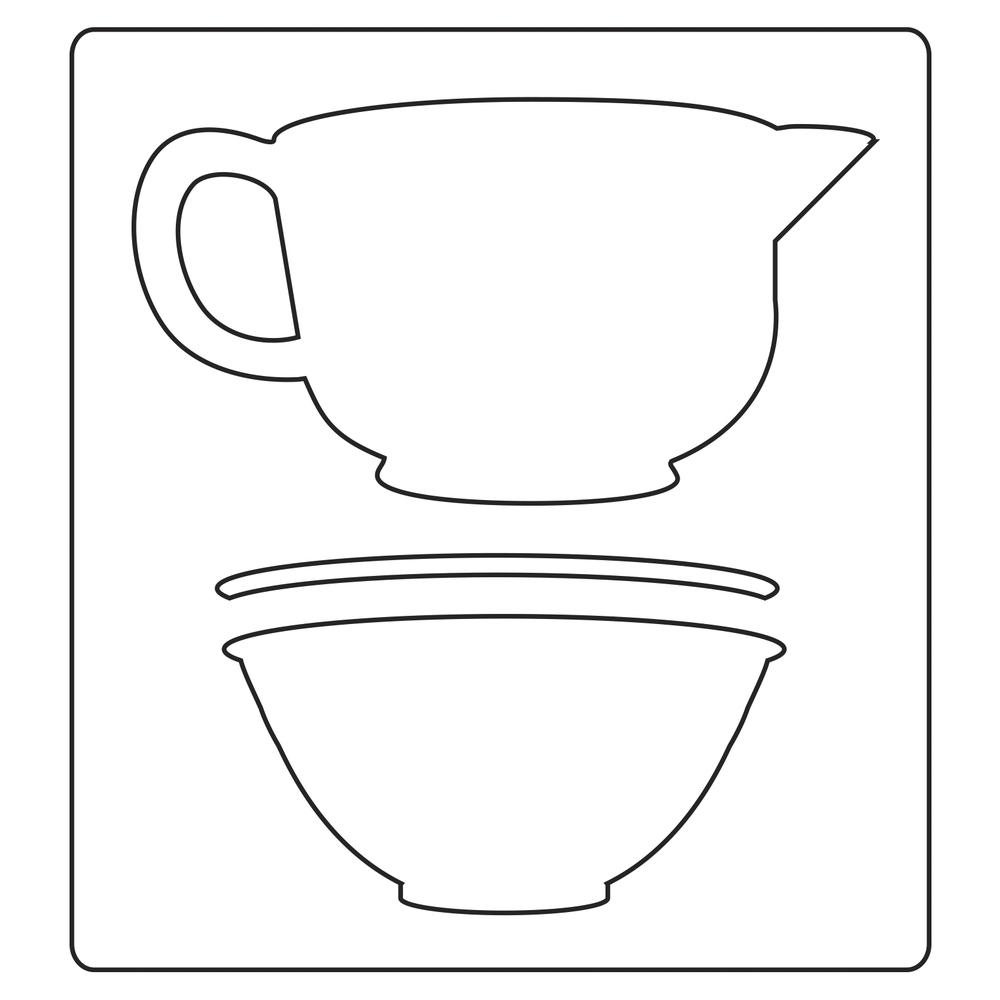 Sizzix Bigz- Mixing Bowls, SB-Blister 1Stück, 11,11x6,03cm-8,57x0,64cm