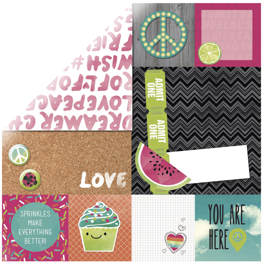 Scrap.Papier ForeverYoung Sweet, 30,5x30,5cm, 190g/m2