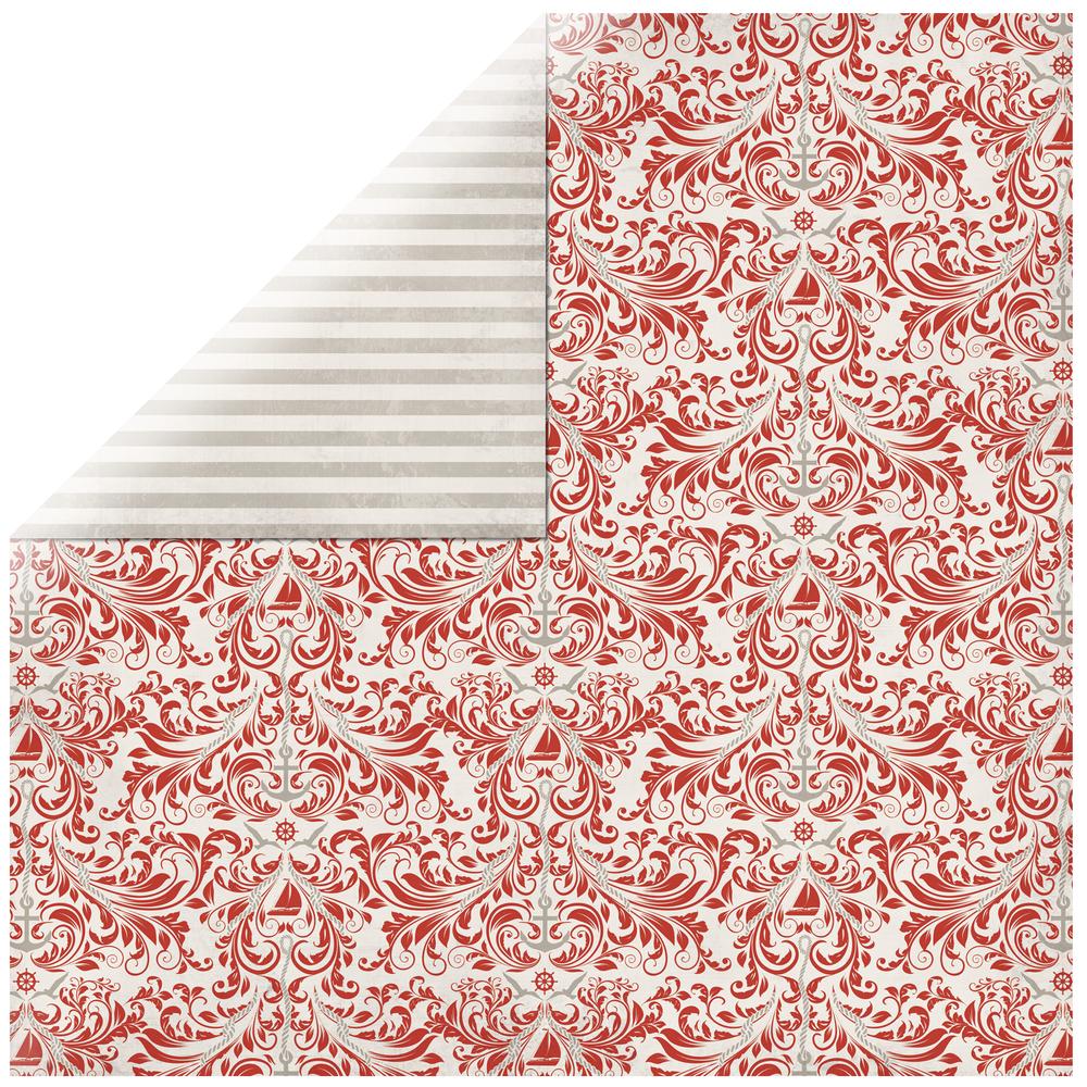 Scrapbookingpapier Seafarer, 30,5x30,5cm, 190g/m2