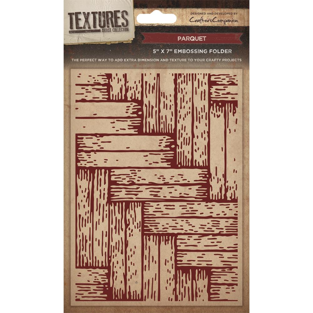 Emb. Folder Textures - Parquet, 12,7x17,78cm, SB-Blister