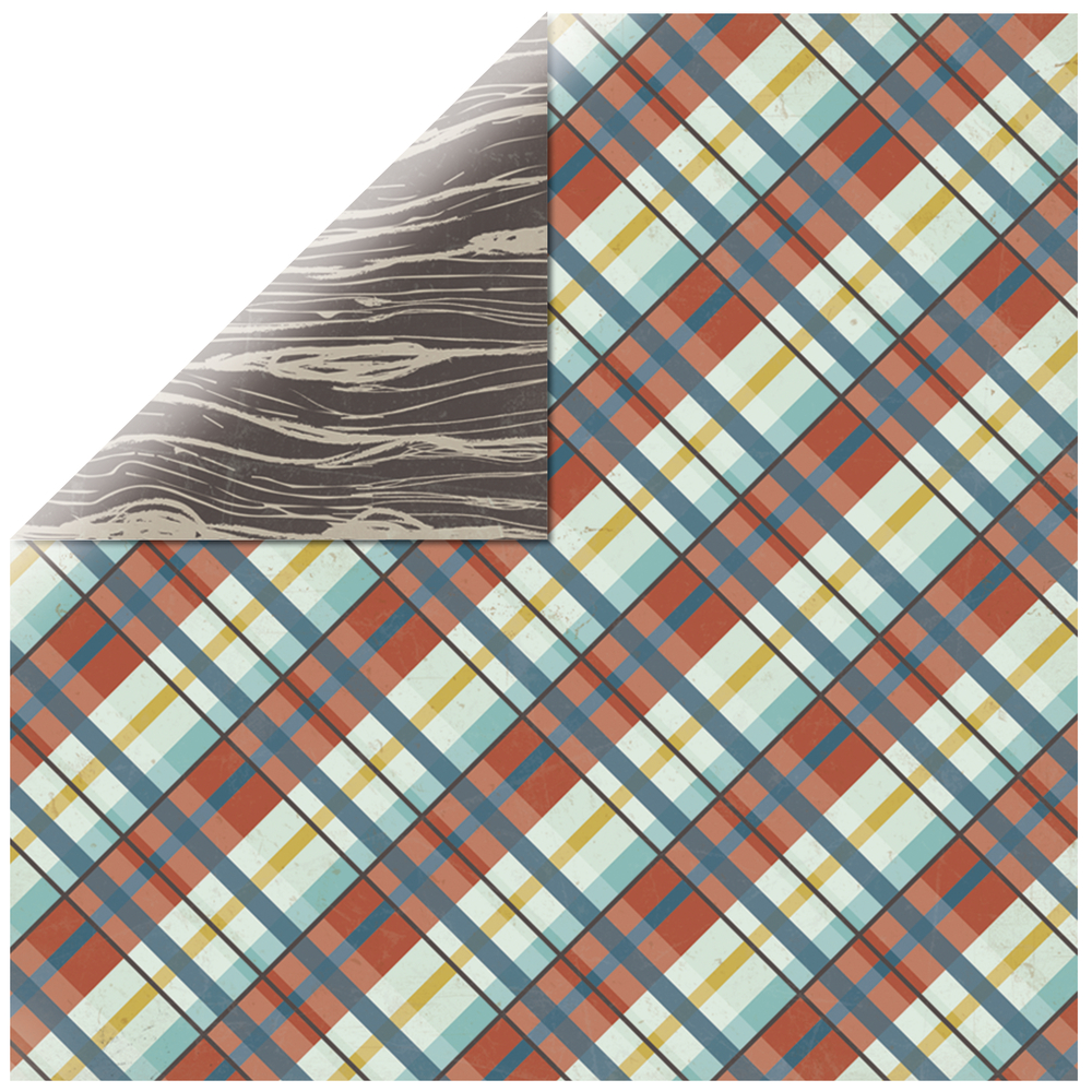 Scrapbookingpapier Happy Camper-Woodland, 30,5x30,5cm, 190g/m2
