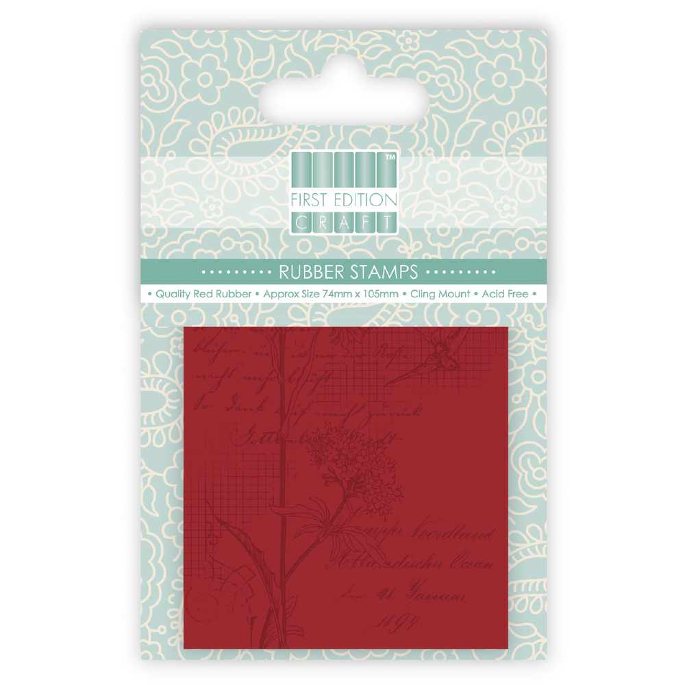 Rubber Stamp A7- Flower+Bird Grid, SB-Btl