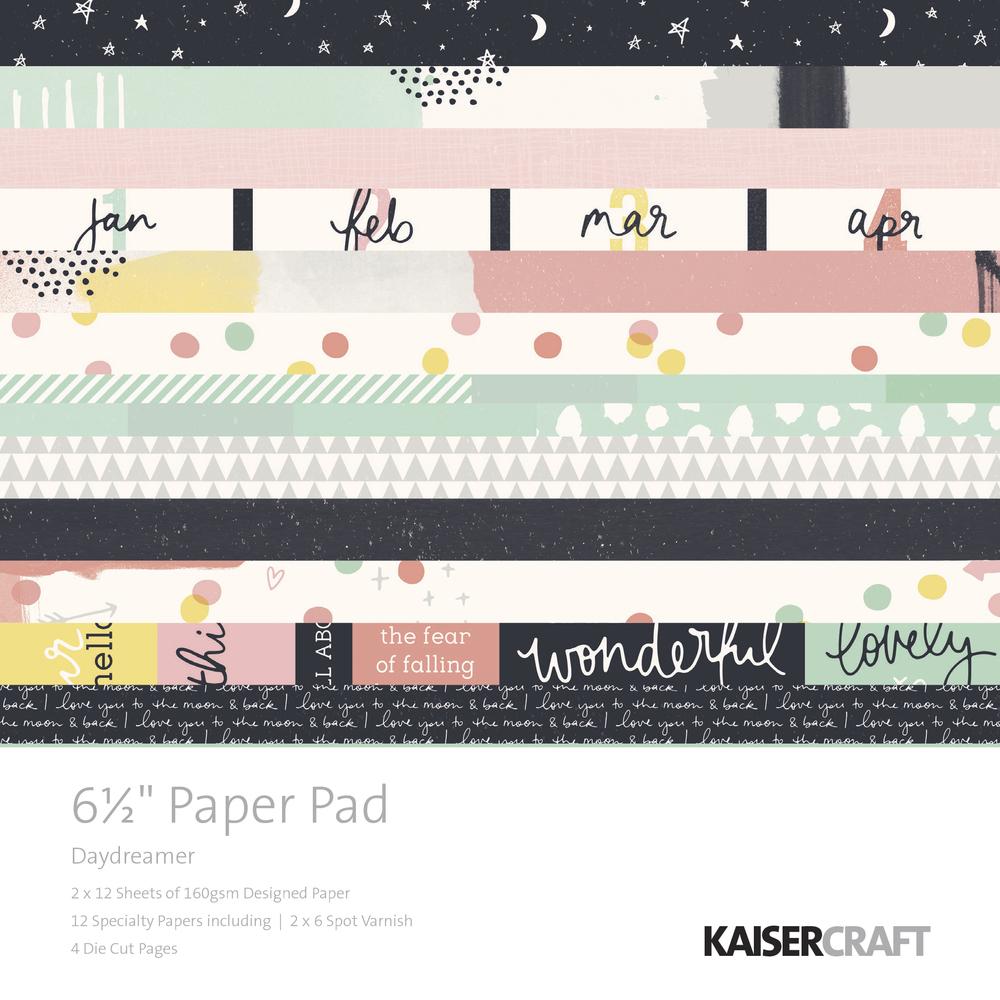 Scrap. Block Daydreamer, 16,5x16,5cm, ca.160g/m2, 52Bogen