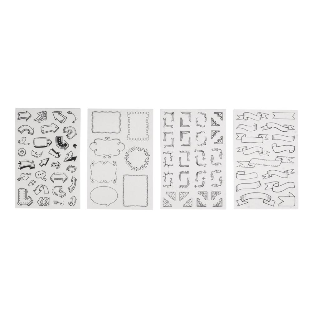 Sticker Labels, FSC MixCred, sortiert, SB-Btl 4Blatt