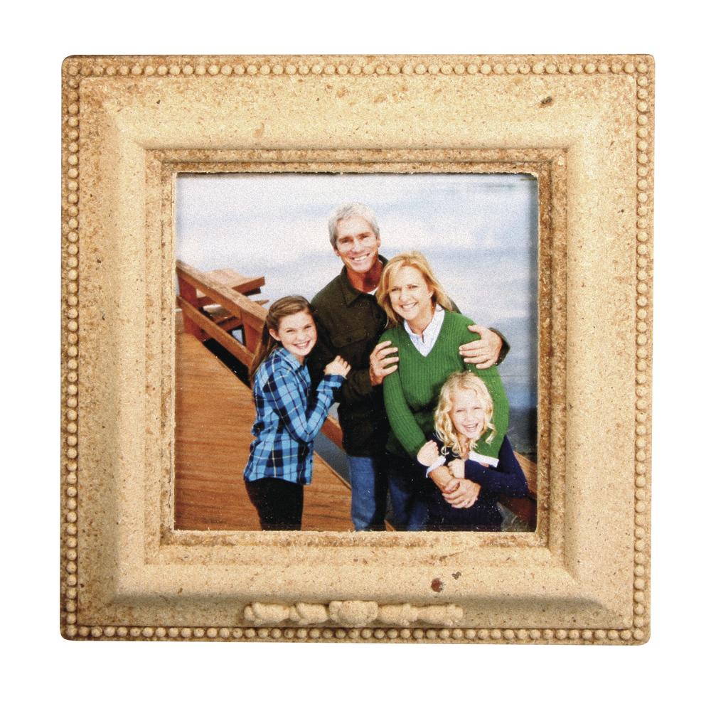 MDF Fotorahmen, 14,5x14,5x1,5cm, Bildausschnitt: 9x9cm