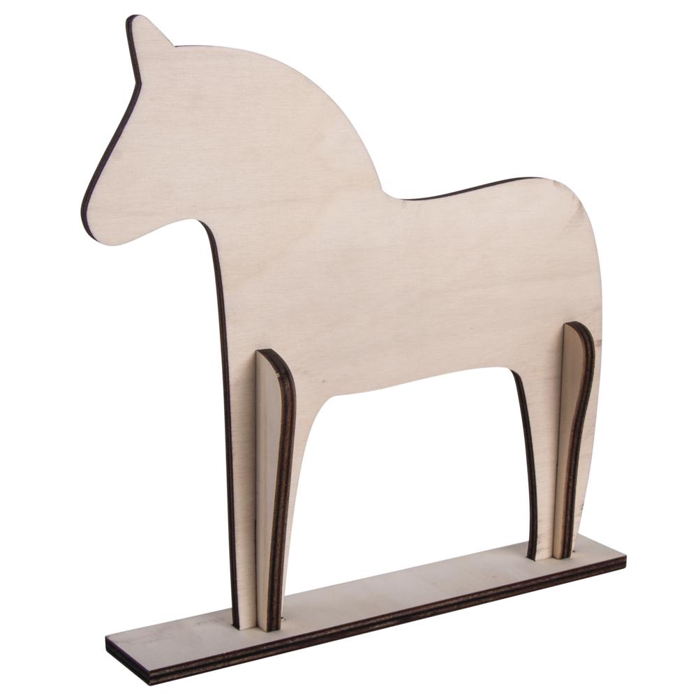 Holz Pferd, skandinavisch,4-tlg.,FSC100%, 22,5x22x0,6cm, z. Stellen, SB-Btl 1Stück