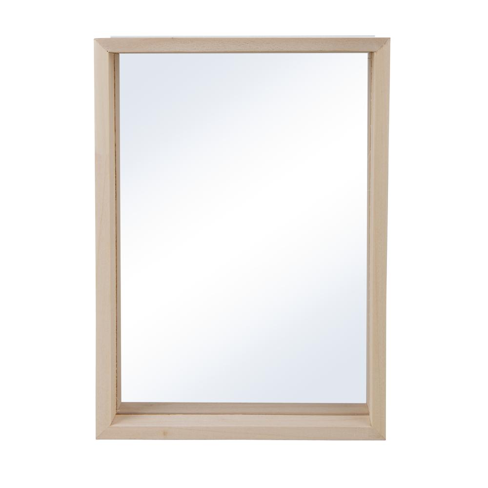 Holz-Rahmen zum Stellen, FSC Mix Credit, 16x22x3,5cm, mit doppelt-Acrylscheibe, natur