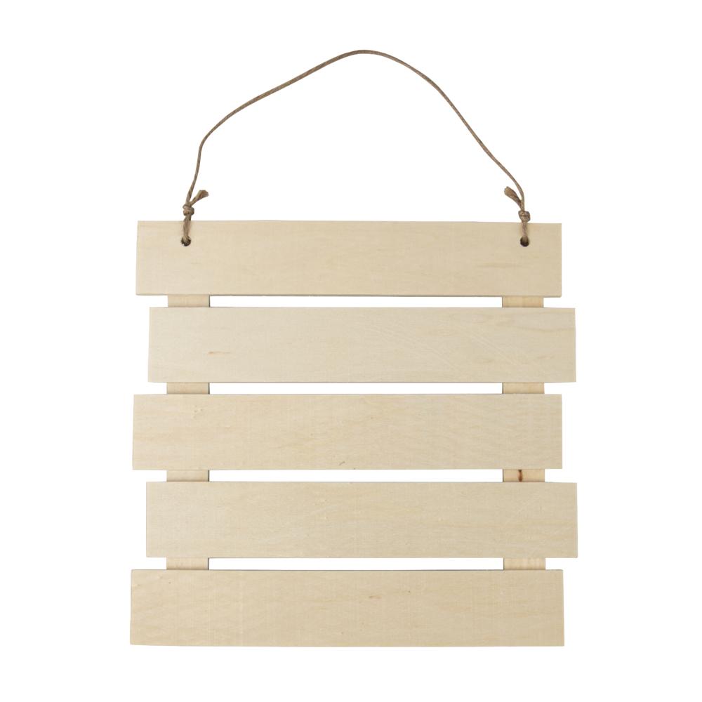 Holz-Lattenrahmen zum Hängen,FSC MixCred, 30,5x31,6x1,5cm, natur