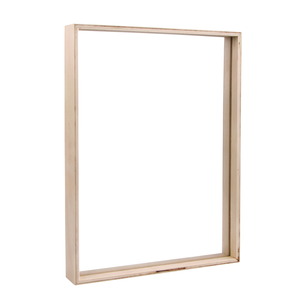 Holz-Rahmen zum Stellen, FSC 100%, 35x26x4cm, inkl. 2x Acrylglas, natur