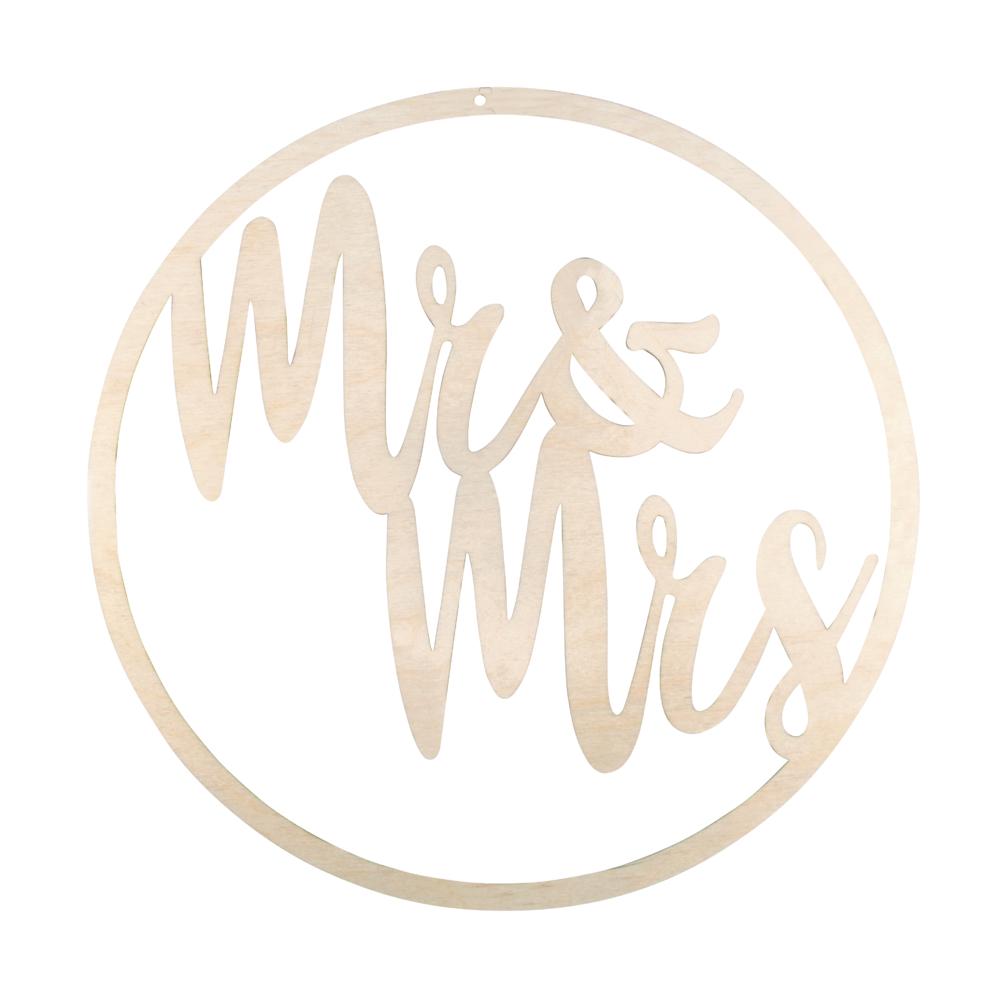 H-Kranz Mr&Mrs, FSCMixCred, 30cm ø, zum Hängen, Box 1Stück, natur