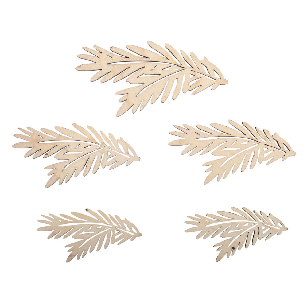 Holz Tannenzweige, FSCMixCred, sort. 8,7-13cm, SB-Btl 5Stück, natur