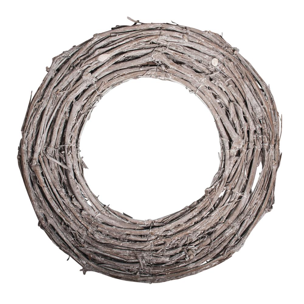 Rebenkranz weiß gewischt, 30cm ø, 7x2cm, flach, natur