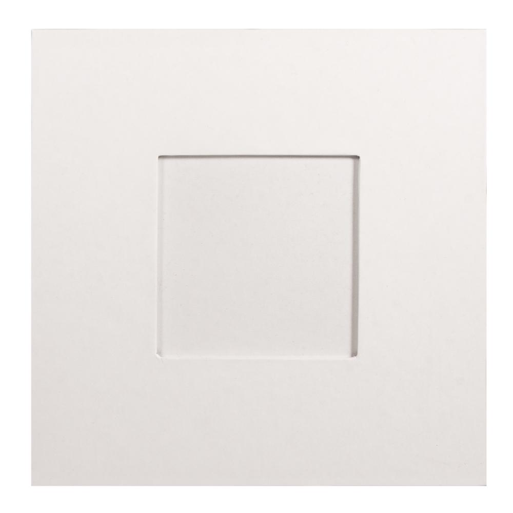 Pappm. Bilderrahmen, FSC Rec. 100%, 18x18x0,7cm, Bildausschnitt 9x9cm, weiß