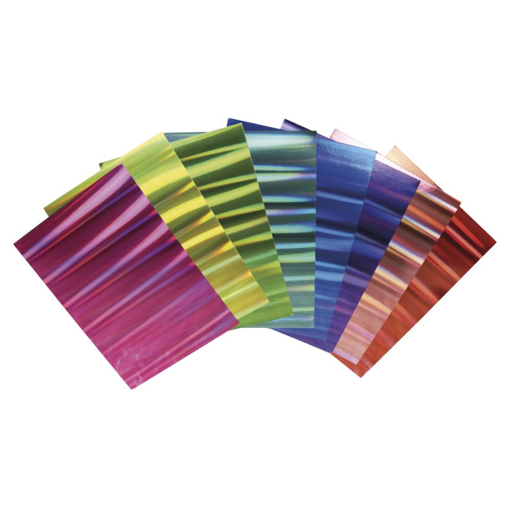 Effektpapier Hologramm Mix, A4, 250g/m2, 8 Farben, 8Blatt, bunt