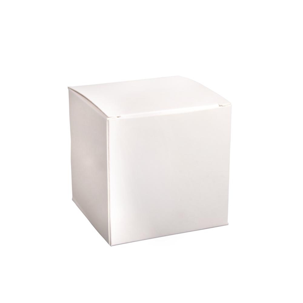 Faltschachtel, 7,5x7,5x7,5cm, Set 12Stück, weiß