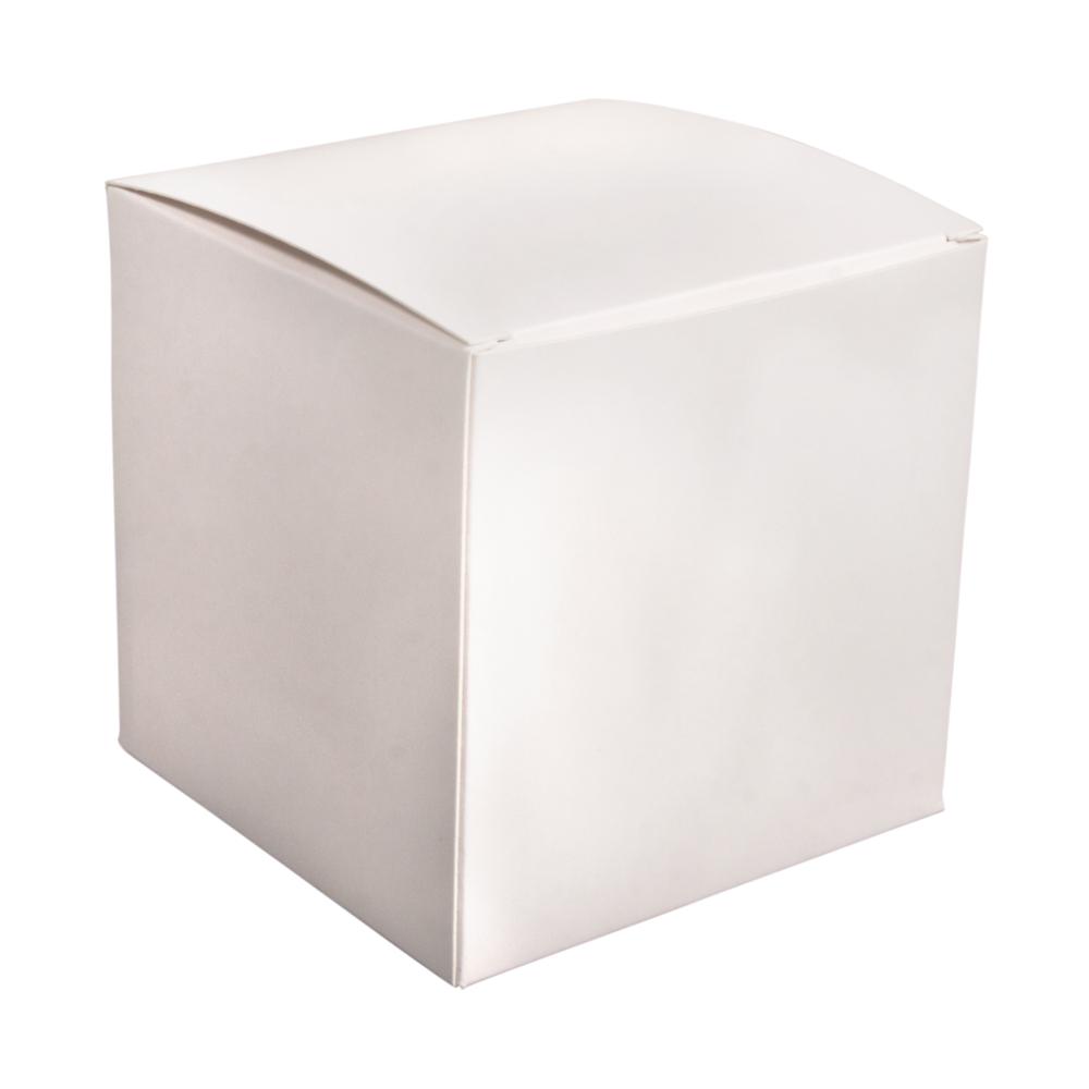 Faltschachtel, 10x10x10cm, Set 6Stück, weiß