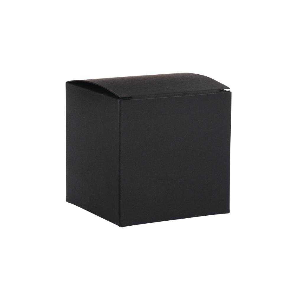 Faltschachtel, 7,5x7,5x7,5cm, Set 6Stück, schwarz