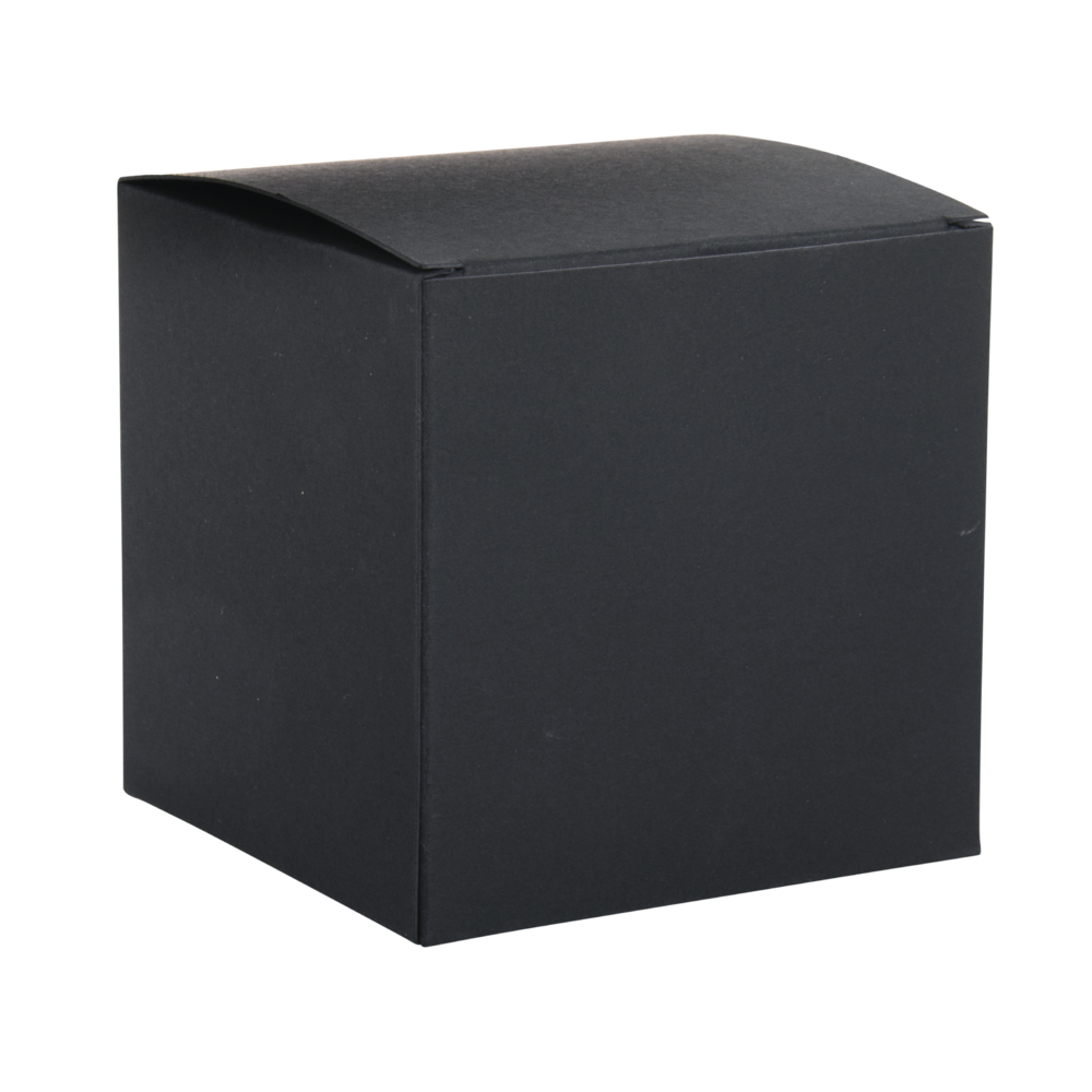 Faltschachtel, 10x10x10cm, Set 3Stück, schwarz