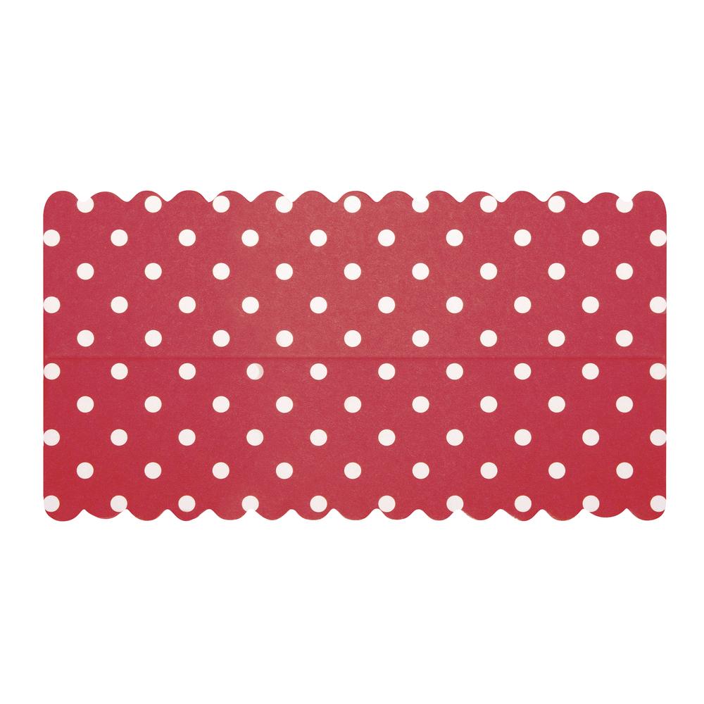 Lasche zum Verschließen v. Papiertütchen, rosa mit Punkten, SB-Btl 10Stück, 13x7cm